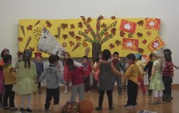 A Infantil dansem per rebre la Tardor !!!