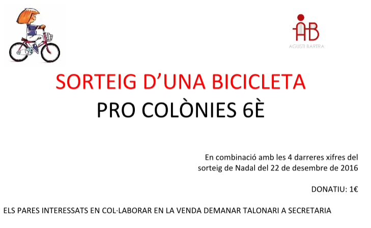 Sorteig pro colònies de 6è
