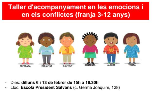 Taller d'acompanyament en les emocions i els conflictes (3-12 anys)