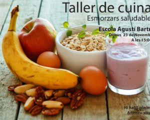 Taller de cuina: esmorzars saludables