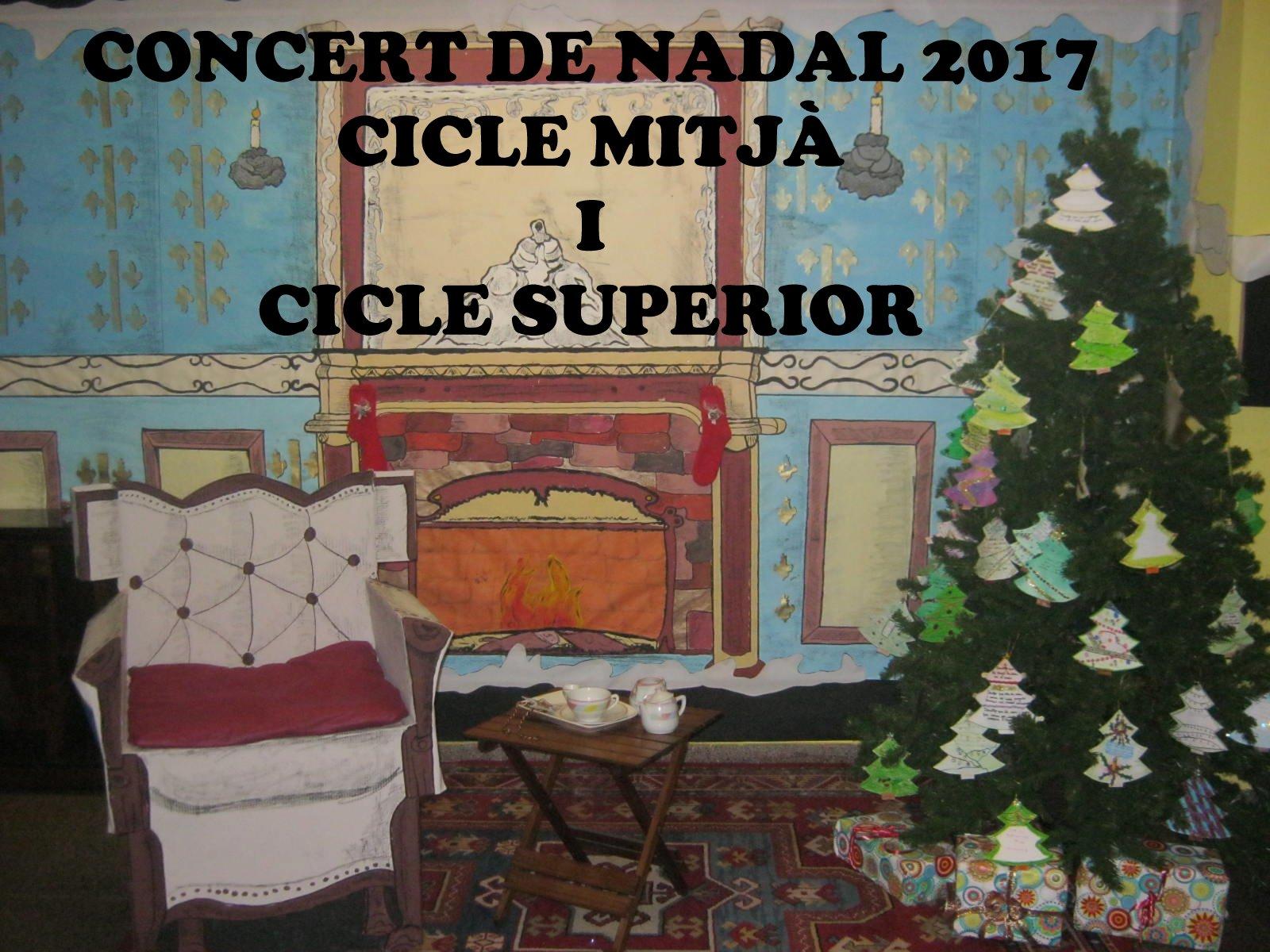Concert de Nadal 2017. Cicle mitjà i superior