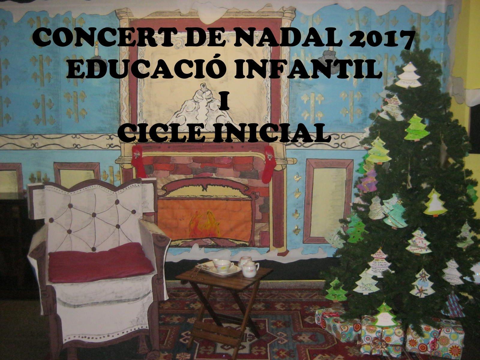 Concert de Nadal 2017. Educació infantil i cicle inicial