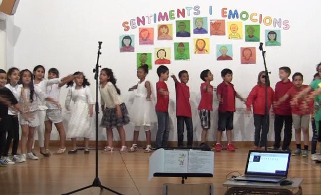 Cantata dels sentiments i les emocions amb els nens i nenes de 2n
