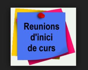 Reunions d'inici de curs 2018-2019