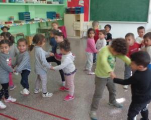 Assaig de la castanyada 2018 d'infantil a l'aula de música