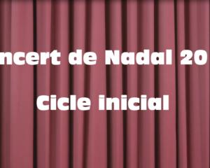 Concert de Nadal 2018 cicle inicial