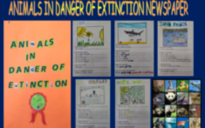 Animals in danger of extinction newspaper