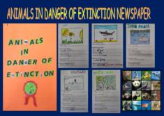 Animals in danger of extinction newspaper
