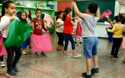 Creativitat i moviment lliure amb els nens i nenes de P5 A i B