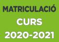 Alumnat assignat a l'escola per al curs 2020-2021