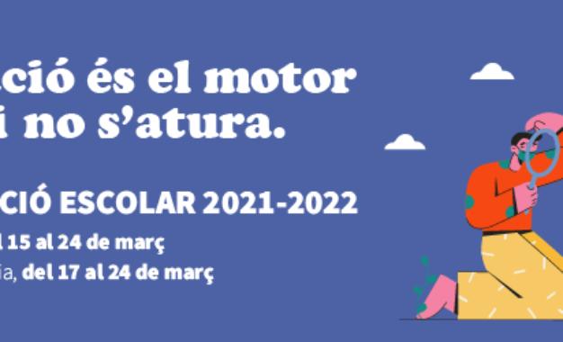 Preinscripció i matrículació per al curs 2021-2022