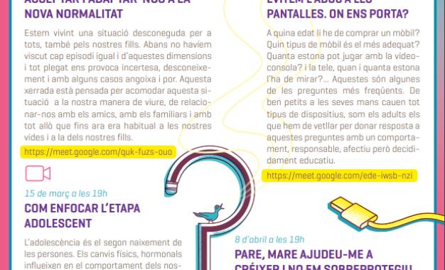 Cicle de xerrades online per a famílies 2021. Eduquem: el paper clau de la família