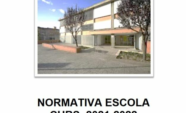 Normativa escola curs 2021-2022